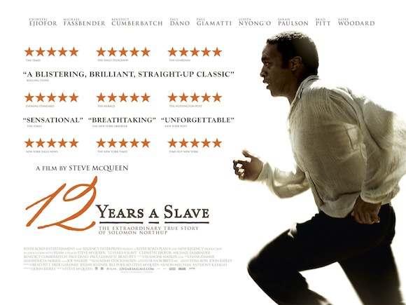 Poster for the film 12 Years A Slave with picture of Chiwetel Ejiofor running