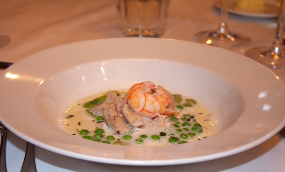 Dish from 1 Lombard Street wine dinner