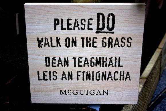 Sign at the McGuigan Vines In The City pop up vineyard in Dublin