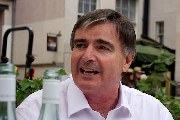 Winemaker Neil McGuigan visiting his vineyard pop-up in Dublin