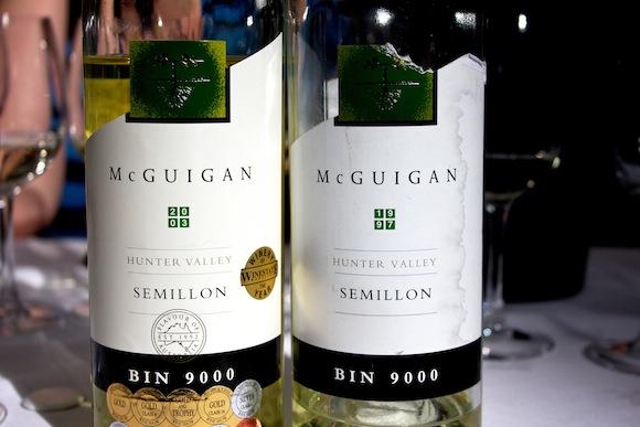 Two bottles of McGuigan Bin 9000 Hunter Valley Semillon