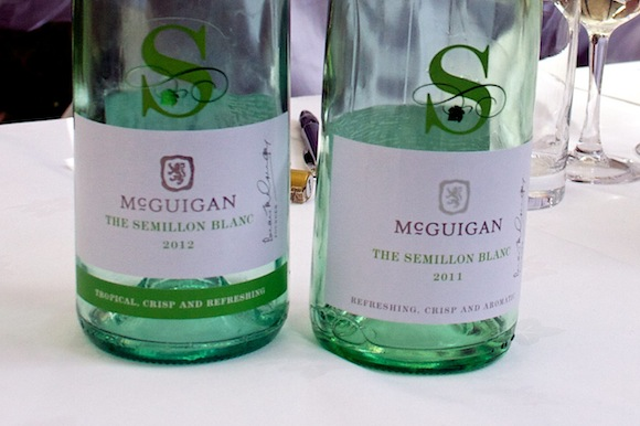 Two bottles of The Semillon Blanc by McGuigan Wines, Australia