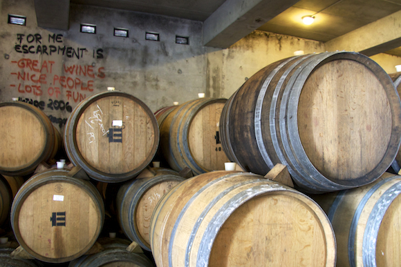 Wine from Martinborough, NZ - Escarpment Barrel Room