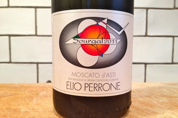 A bottle of Elio Perrone Moscato D'Asti 2011 wine