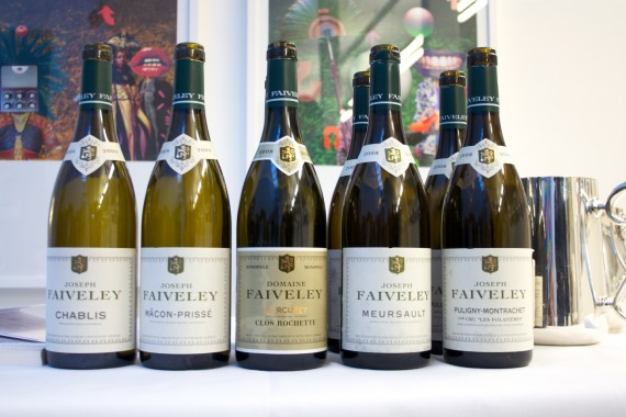 Wine Review: Six bottles of different white wines from Domaine Faiveley in Burgundy
