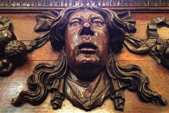 Carving in the Vintners Hall, London