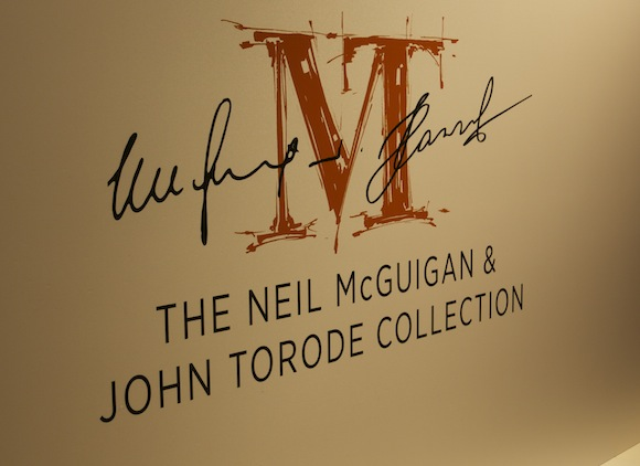 The Neil McGuigan and John Torode Recipe Collection signage