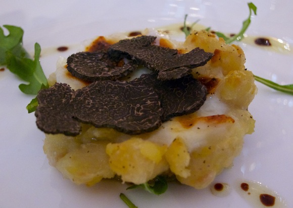 Dish with truffle from Languedoc to match local wines