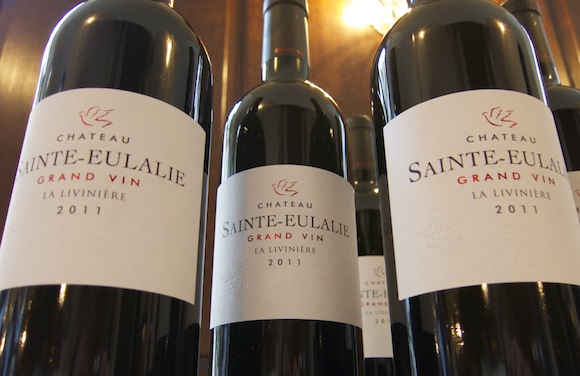 Close up of Minervois wine bottles from Languedoc-Roussillon
