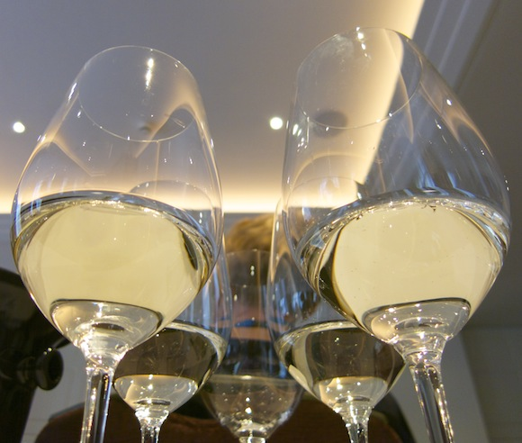 Glasses of Koshu wine