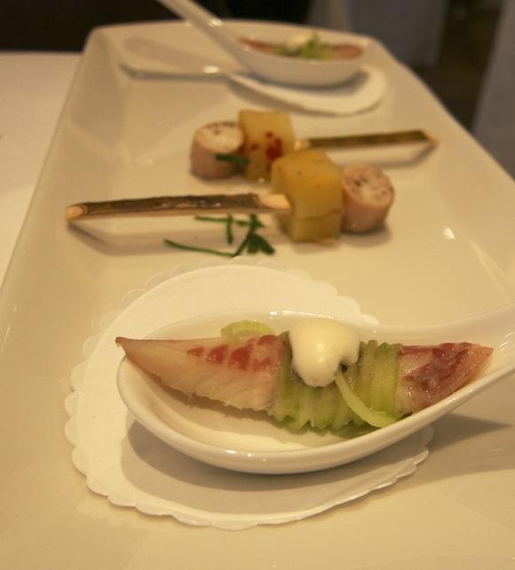 Eel dish matched with Koshu wine