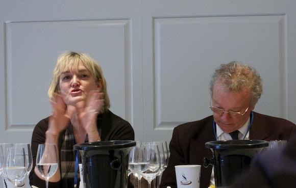 Fiona Beckett and Charles Metcalfe at Koshu wine tasting event