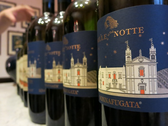 Vertical tasting of Mille e Una Notte wine at Donnafugata winery in Sicily