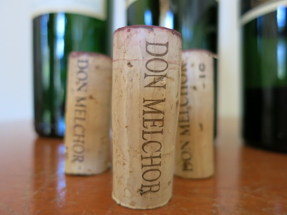 Corks from bottles of Don Melchor wine