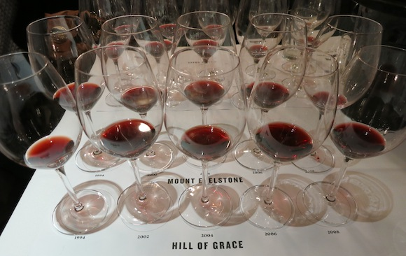 Henschke Hill of Grace and Mount Edelstone wine tasting