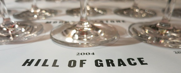 Henschke wine tasting of Hill of Grace