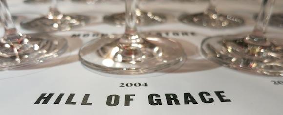 Henschke wine tasting of Hill of Grace