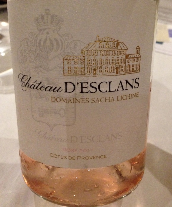 Chateau d'Esclans rosé wine from Provence