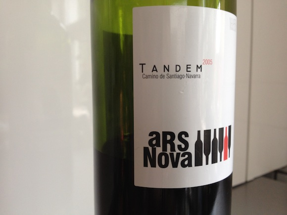 Tandem Ars Nova 2005 wine from Navarra in Spain