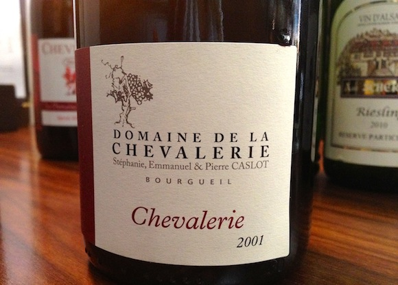Bourgueil Cuve de la Chevalerie 2001, stocked at Charlotte's Bistro W4