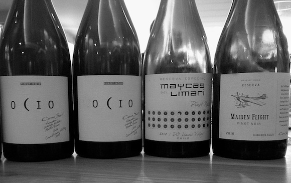 Four bottles of Pinot Noir from the Concha Y Toro stable in Chile