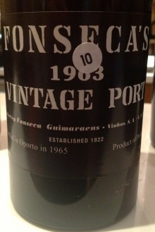 Bottle of Fonseca 1963 Vintage Port