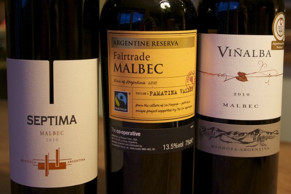 Septima Malbec 2010, Co-op Fairtrade Malbec 2010, Vinalba Malbec 2010