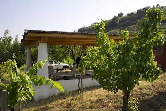 Vini Biondi's outside kitchen in a vineyard on the slopes on Etna, Sicily