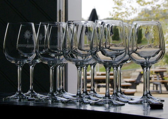 Glasses at Boxwood Winery, Middleburg VA