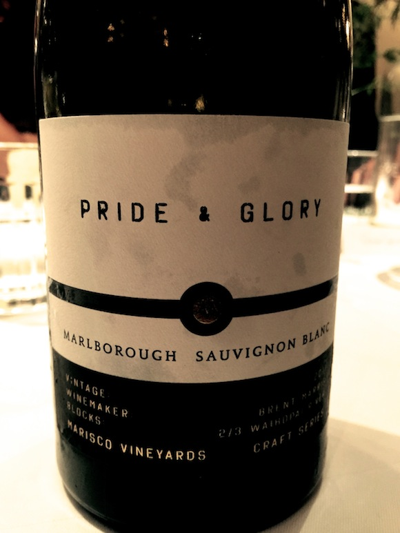 Label of Marisco Craft Series Pride & Glory Sauvignon Blanc
