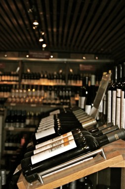 Bottles of wine at The Wine Society's showroom in Stevenage