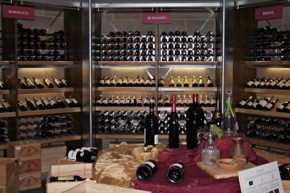 Room with fine wines from Bordeaux, Burgundy and the Rhone at The Wine Society