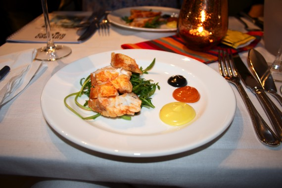 Monkfish cooked to look like langoustine, Catalan-style