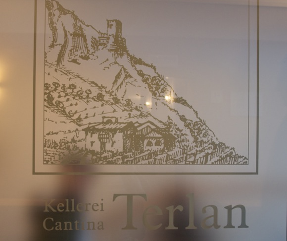 Sign at Cantina Terlan, a winery in Alto Adige, Italy