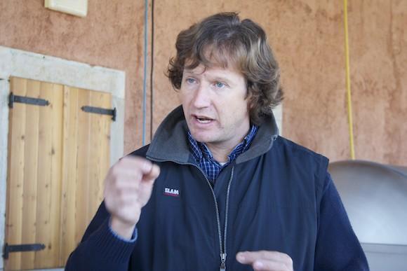 Natural winemaker Sandi Skerk in the Carso, Friuli, Italy
