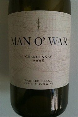 wine - Man O'War white label Chardonnay 2008