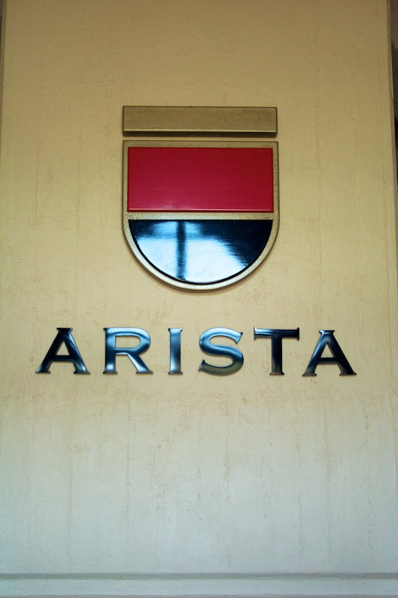 Sign at Arista winery, Russian River Valley