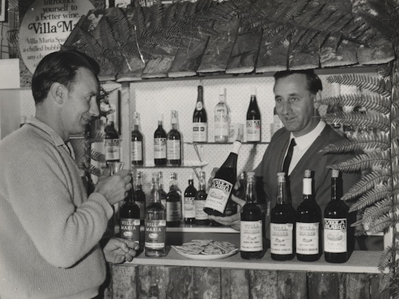 Picture of a Villa Maria tasting back in the 1960s