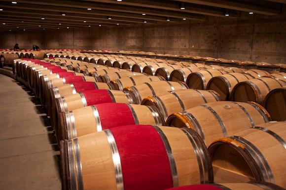 New French Oak barrels at Opus One