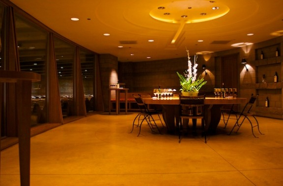 Opus One wine tour tasting room in Napa, California