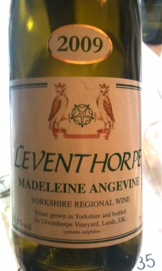 English Wine: White wine made by Leventhorpe in Leeds