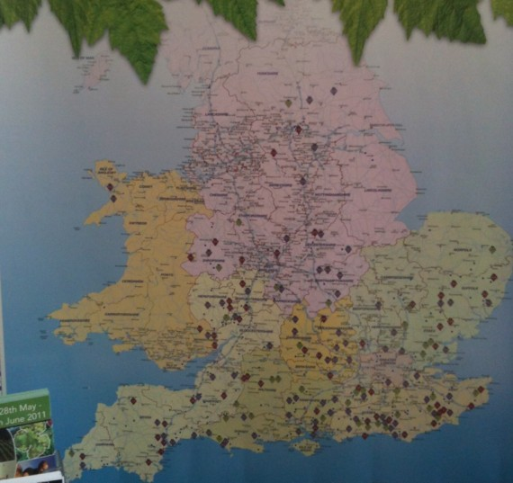 English Wine: Map of vineyards in England and Wales