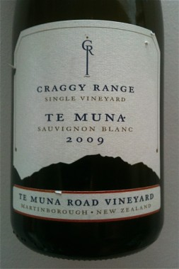 Craggy Range Te Muna Sauvignon Blanc 2009 from Martinborough, New Zealand
